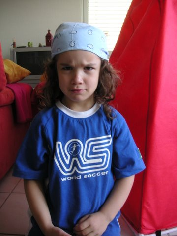 Photo de Juliette, 4 ans, pirate et footballeuse