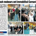 photos du Flash Mob de Genève dans le Matin Bleu