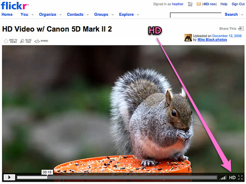 video hd sur flickr