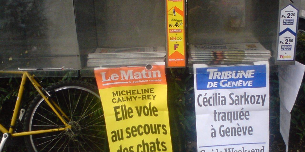 People, la presse suisse romande?