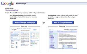 igoogle ou google reader