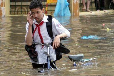Hanoi sous l'eau