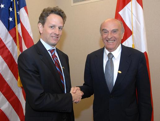 Rudolf Mertz et Timothy Geithner