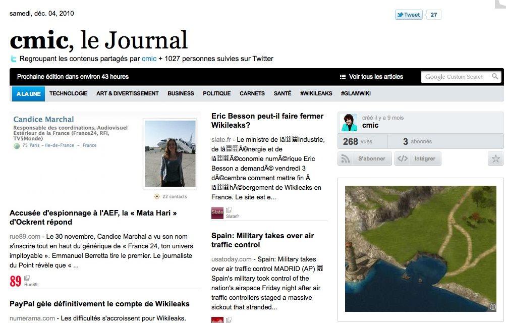 Paper.li ou Twitter sous forme de journal