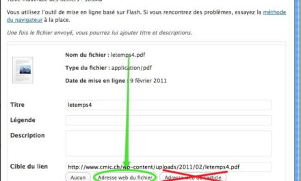 Fichier PDF et WordPress