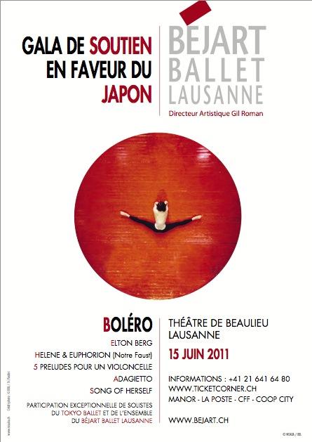 Béjart Ballet Lausanne: Gala de soutien en faveur du Japon