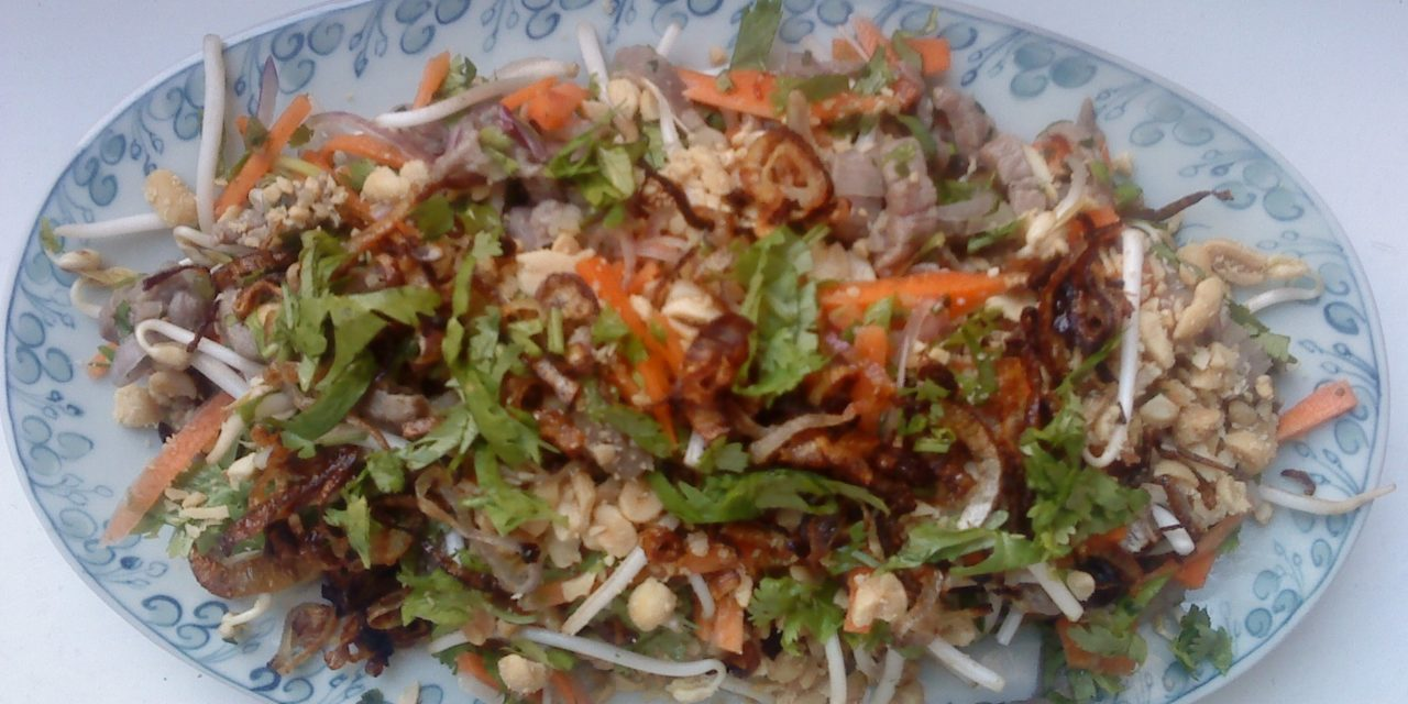 Salade vietnamienne boeuf cru au citron Gỏi Bò Tái Chanh
