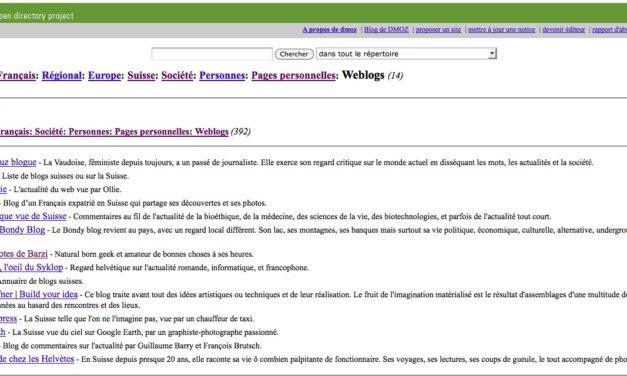 Répertoire de blogs suisses