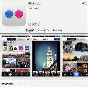 flickr pour iphone