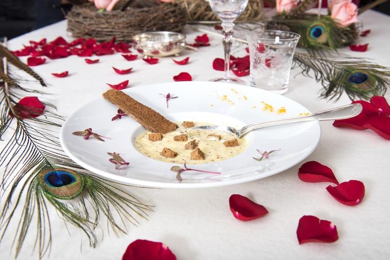 Soupe moutarde Repas gastronomique Renaissance Philippe Ligron