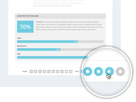 Thème WordPress Extra: comment supprimer votes et notes