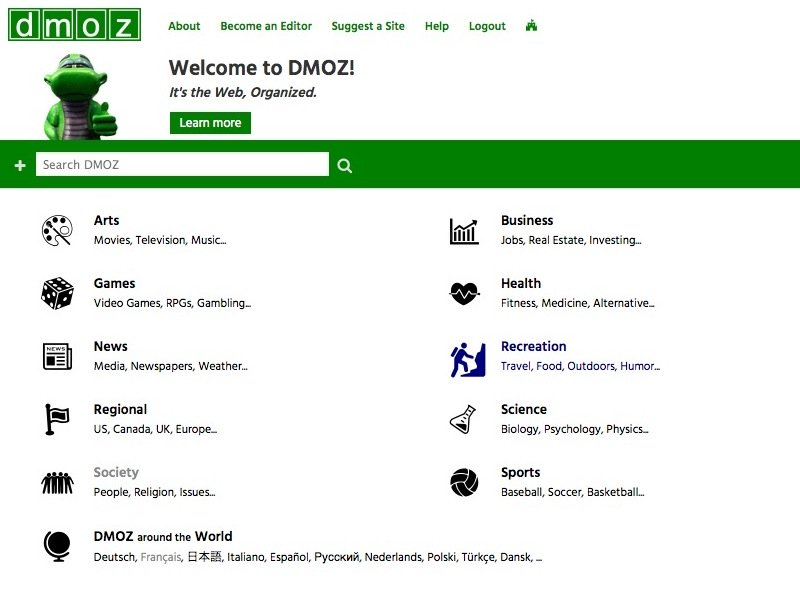 Dmoz: new look and feel