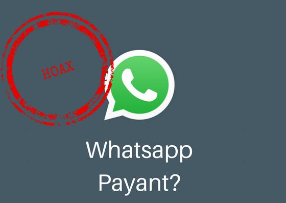 Whatsapp payant: c'est un canular!