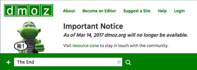 RIP Dmoz, AOL ferme le dernier des annuaires